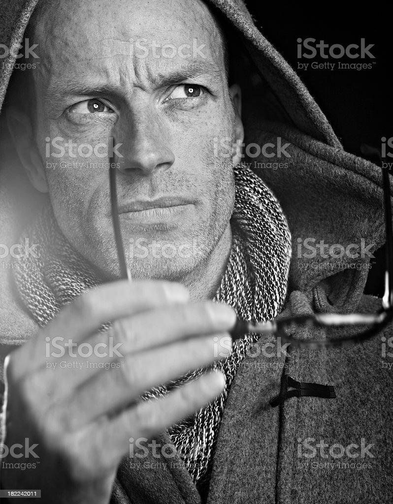 duffle coat man royalty-free stock photo