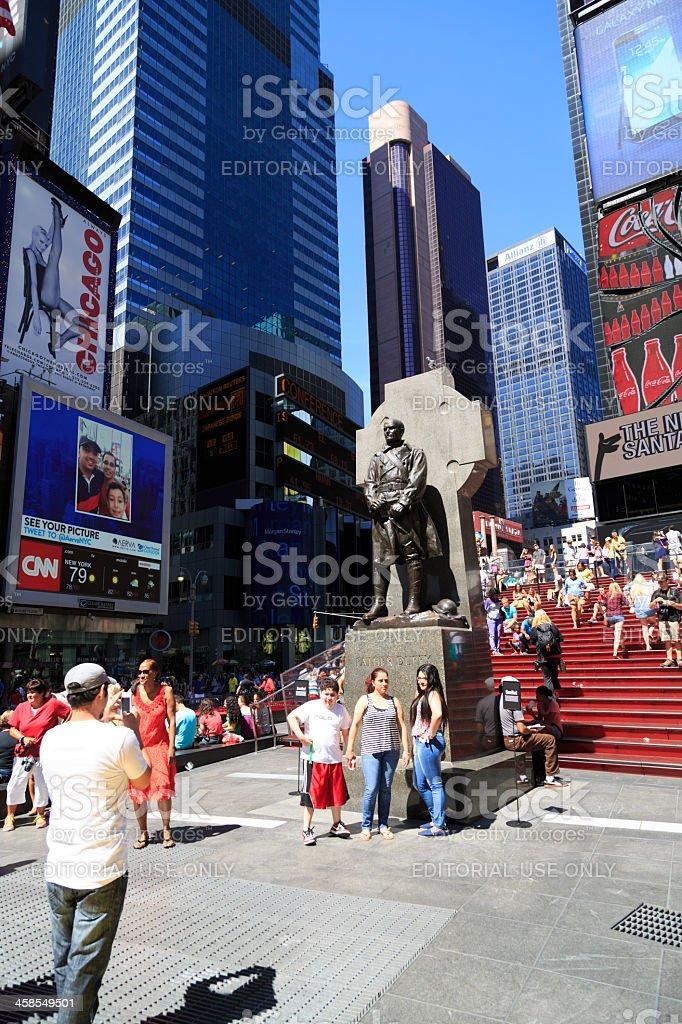 Duffy square in Manhattan, New York City stock photo