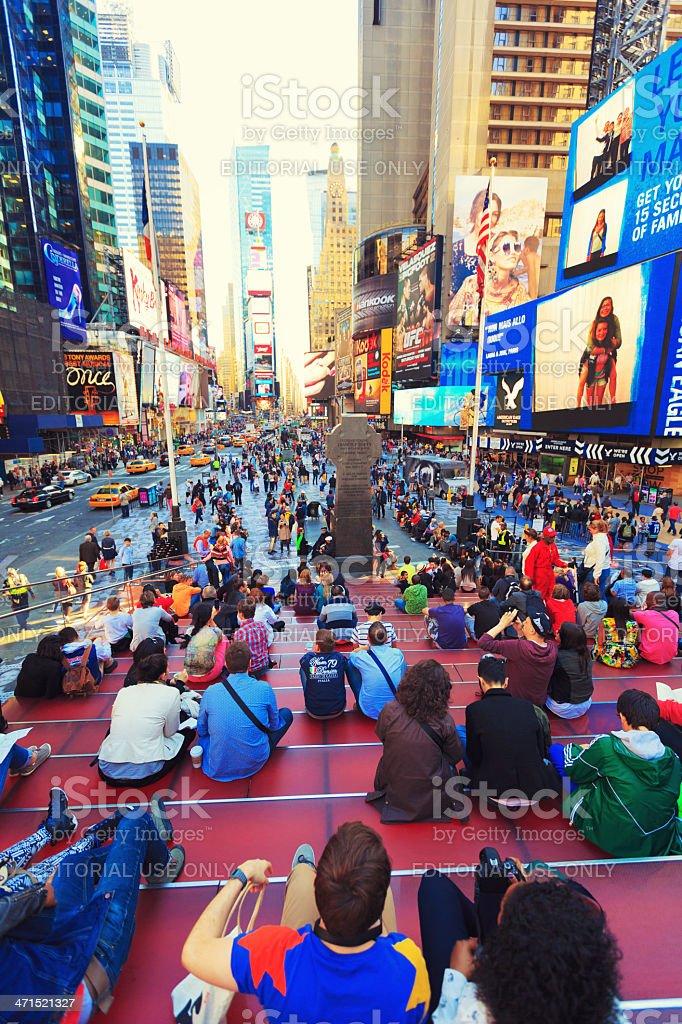 Duffy Square stock photo