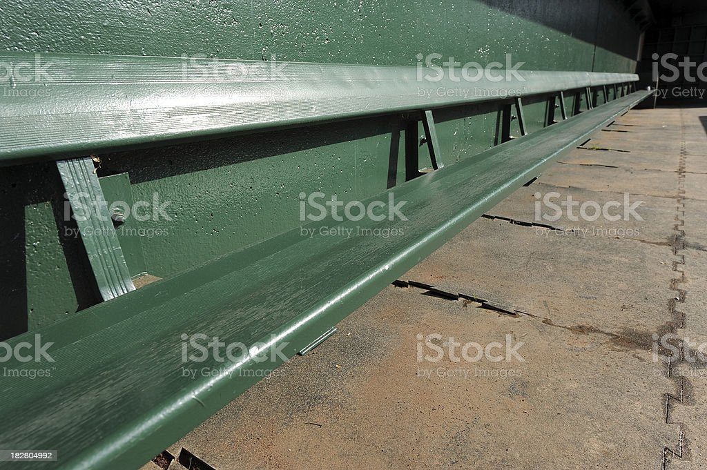 Dugout Bench stock photo