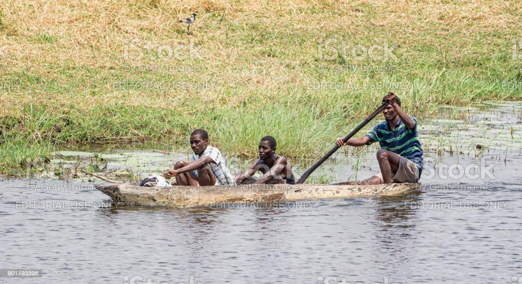 Dugout Canoe stock photo