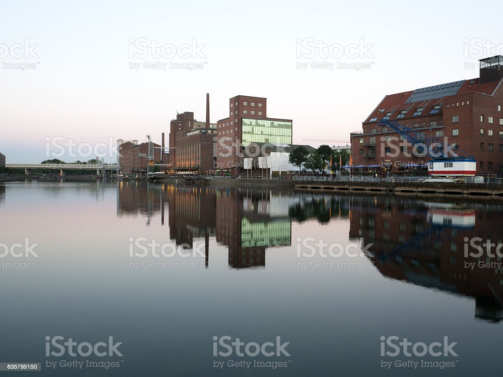 Duisburg Inner Harbour stock photo