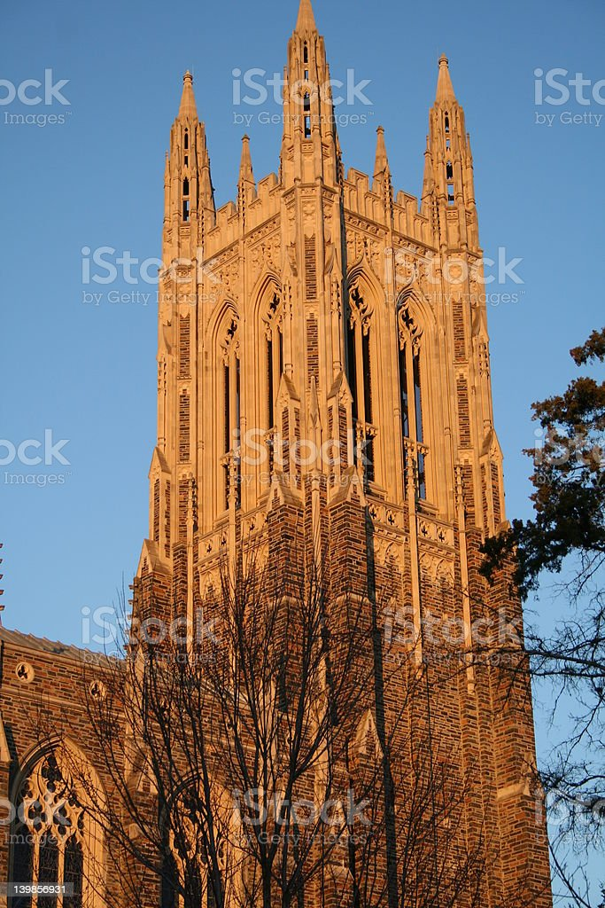 Duke Chapel - side view stock photo