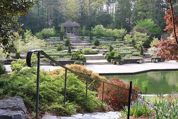 Duke garden at Spring, Durham,NC stock photo