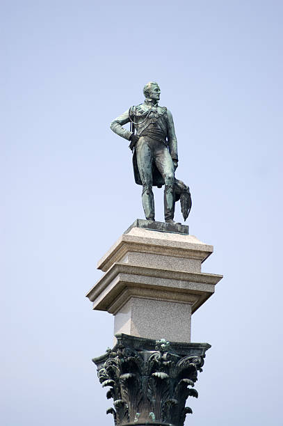 Duke of Wellington Statue, Stratfield Saye stock photo