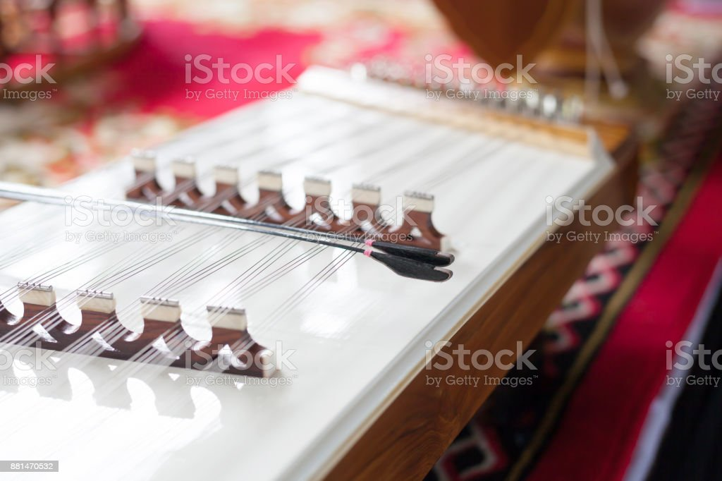 Dulcimer Is Thai Traditional Music Instrument Stock Photo