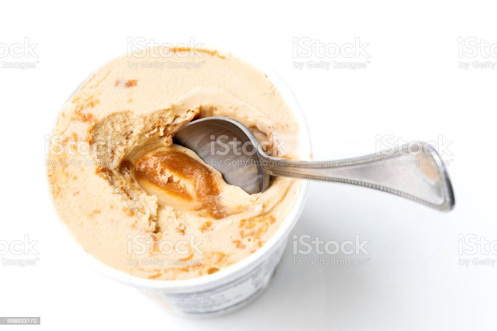 Dulde de Leche Ice cream stock photo