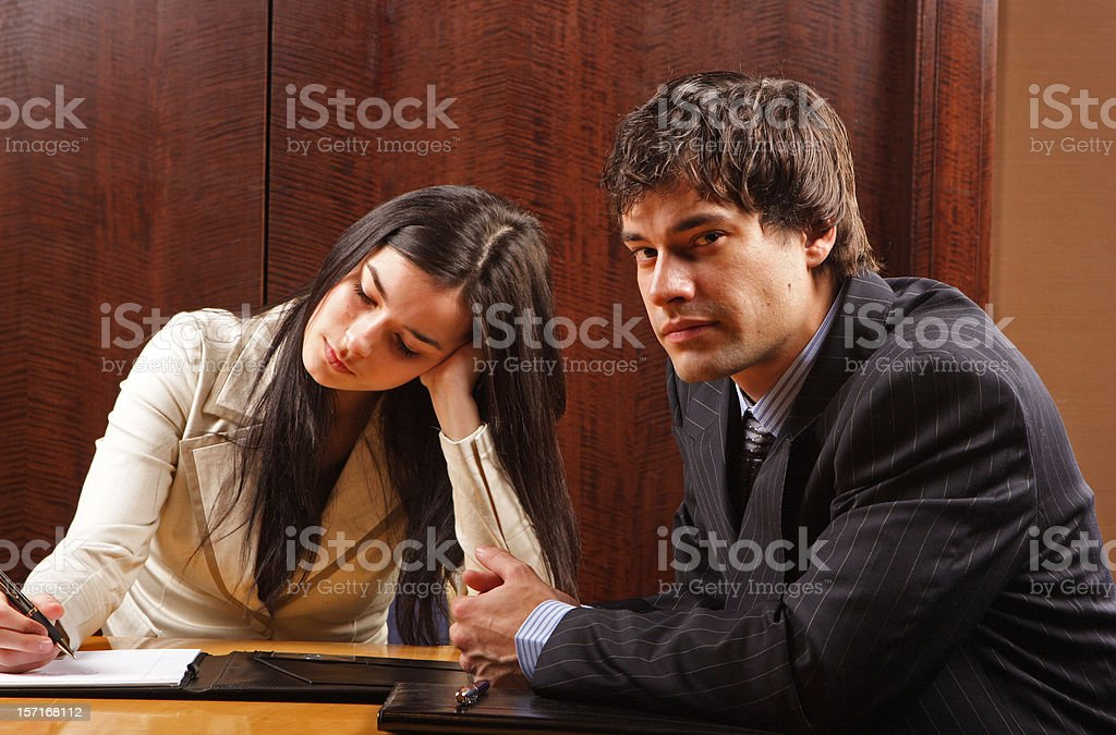 Dull meeting royalty-free stock photo