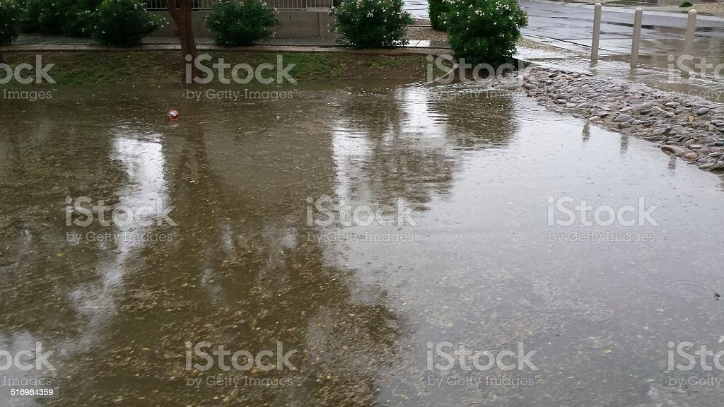 Dull Rainy Day in Phoenix, AZ stock photo