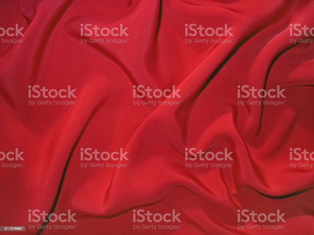 Dull red fabric (artificial silk) stock photo