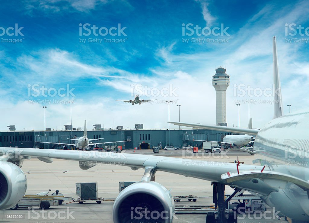 Dulles Airport in Washington DC, USA stock photo
