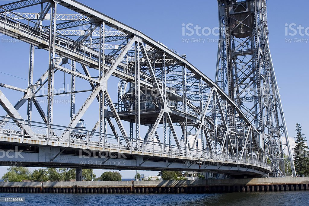 Duluth Aerial Lift Bridge royalty-free stock photo