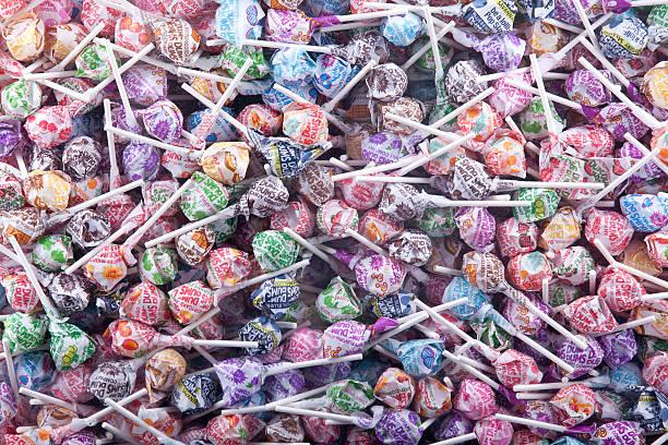 Dum Dumb Lolly Pops stock photo