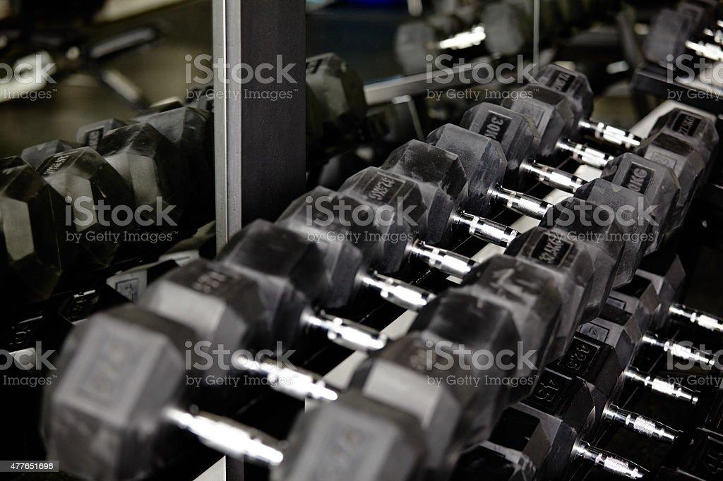 Dumb bells stock photo