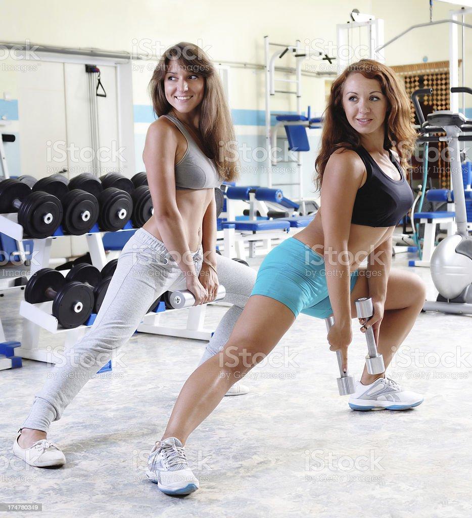 Dumbbell Exercises for Women royalty-free stock photo