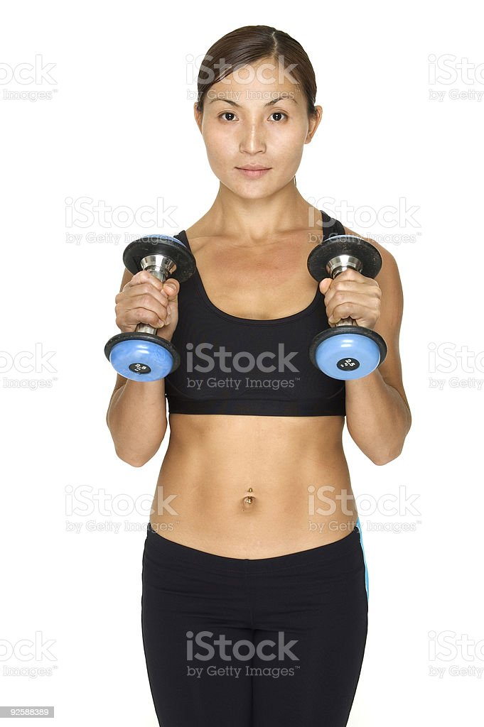 Dumbbell Hammer Curl 2 royalty-free stock photo