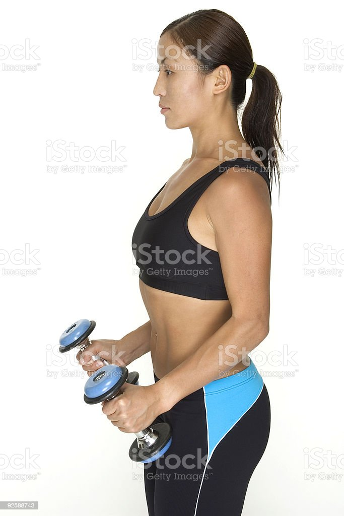 Dumbbell Lateral Raise 5 royalty-free stock photo