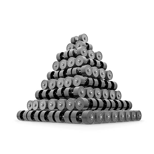 Dumbbell pyramid isolated stock photo