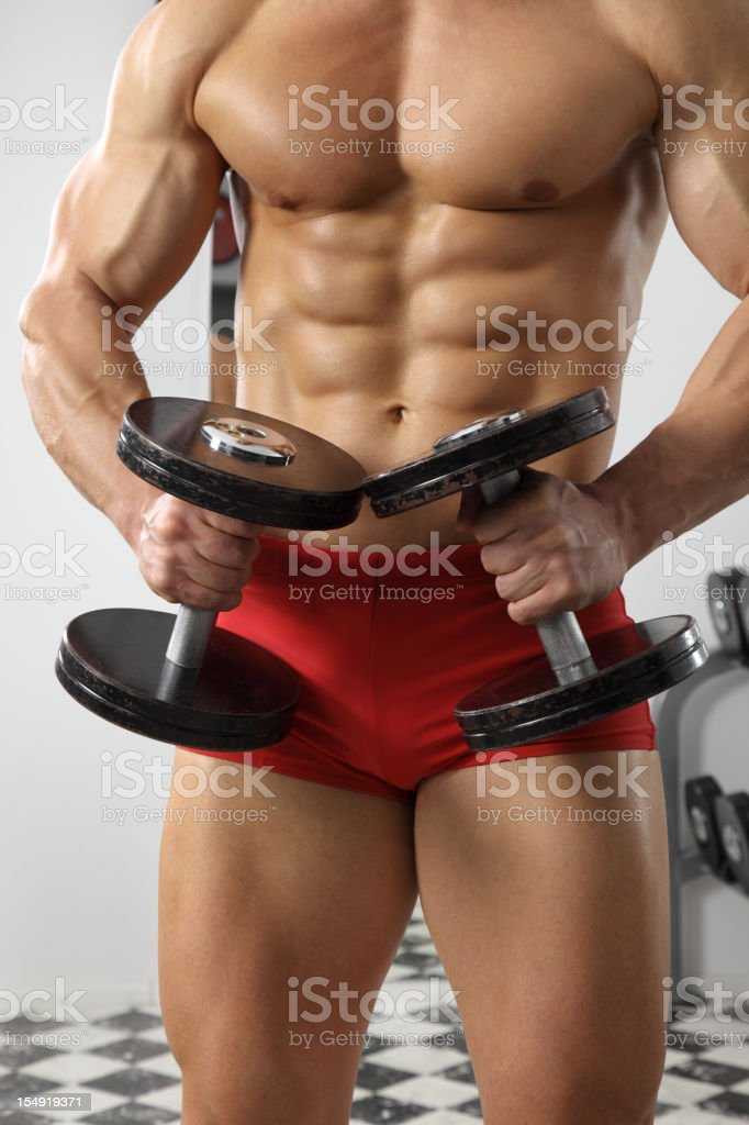 Dumbbells exercising royalty-free stock photo