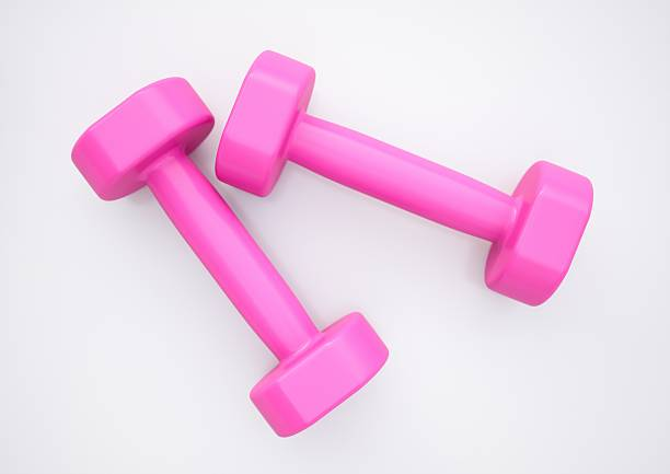 Dumbbells for sports stock photo