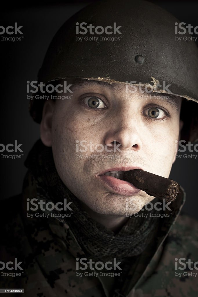 Dumbfounded Rebel Leader royalty-free stock photo