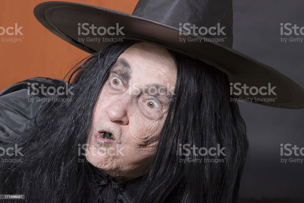 Dumbfounded Witch stock photo