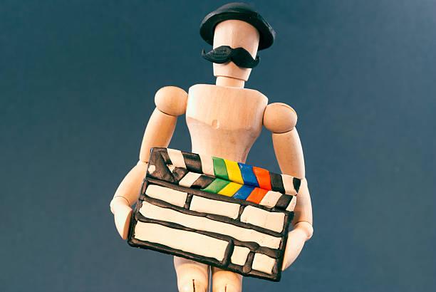 dummy und kino klatschen bord. - klappe hut stock-fotos und bilder