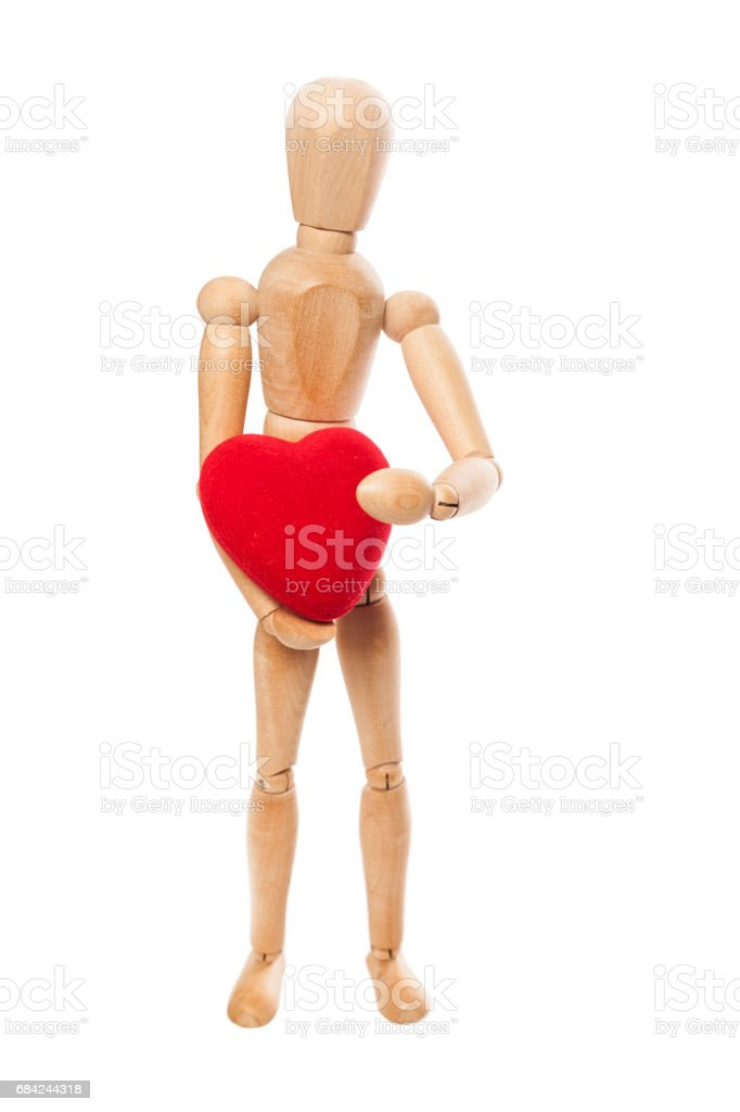 Dummy and red heart royalty-free stock photo