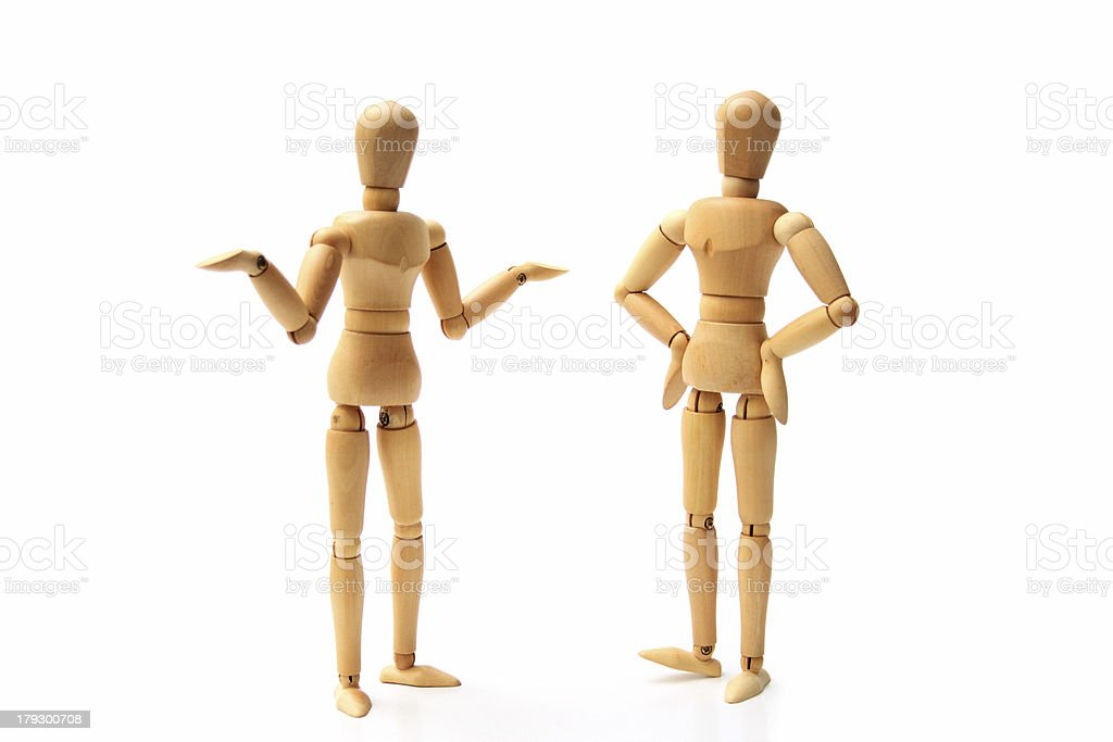 Dummy chat royalty-free stock photo