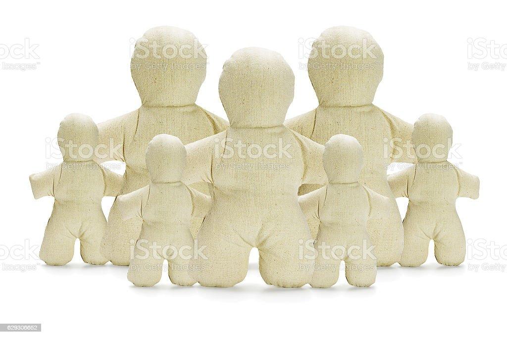 Dummy Figurines Family Concept stock photo