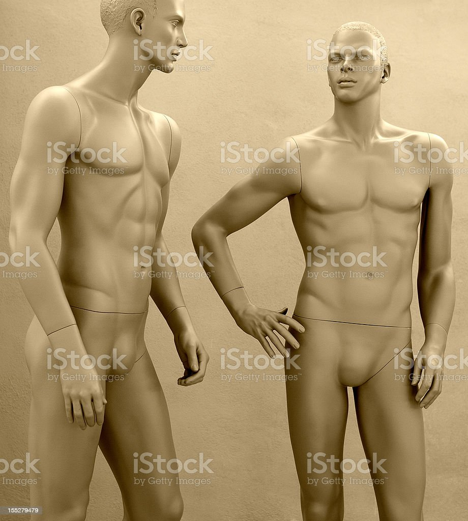 Dummy friends for ever royalty-free stock photo