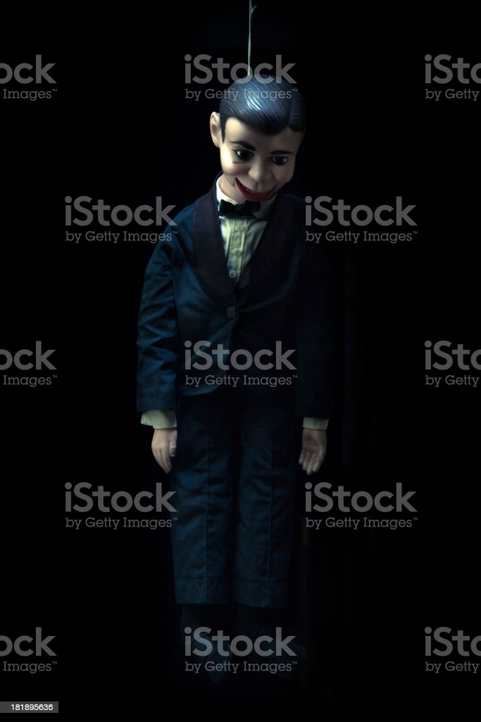 Dummy hanged to a rope royalty-free stock photo
