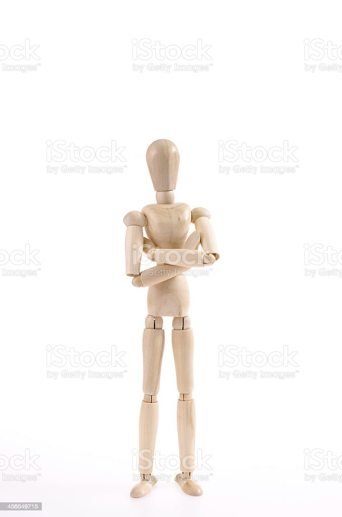 dummy in a confident posture stock photo