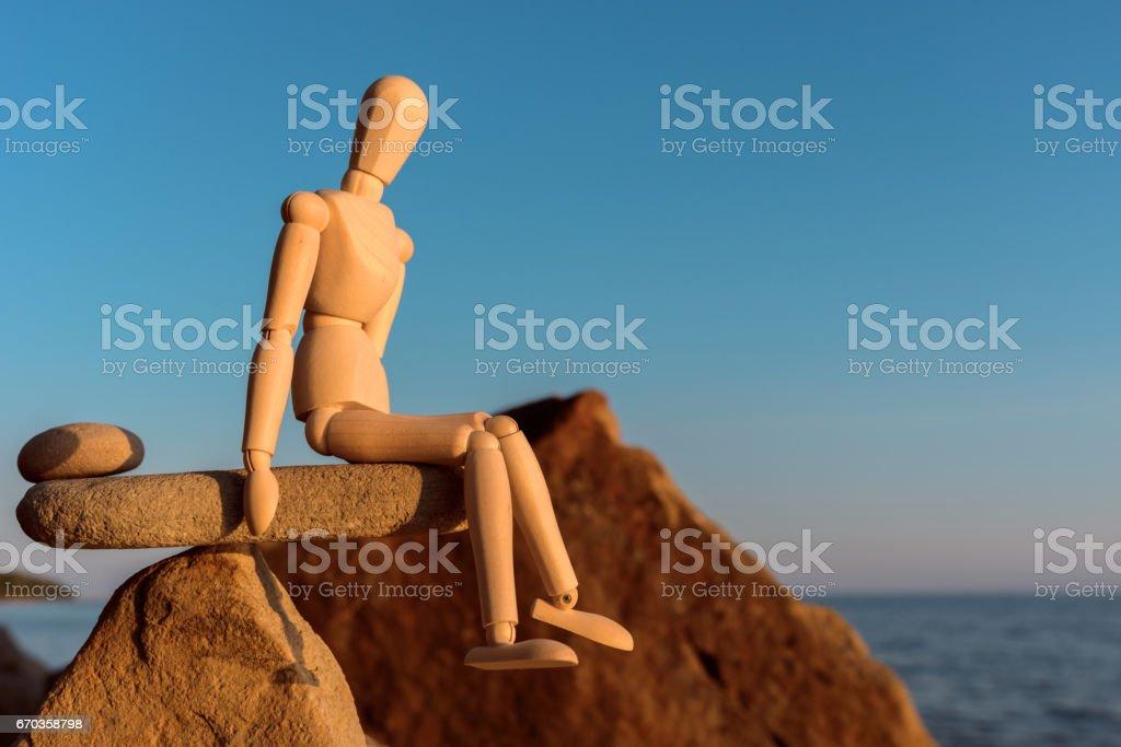 Dummy in balance stock photo