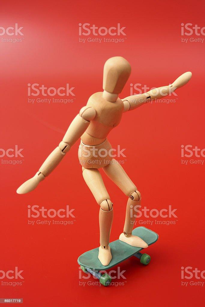 Dummy skating royalty-free stock photo
