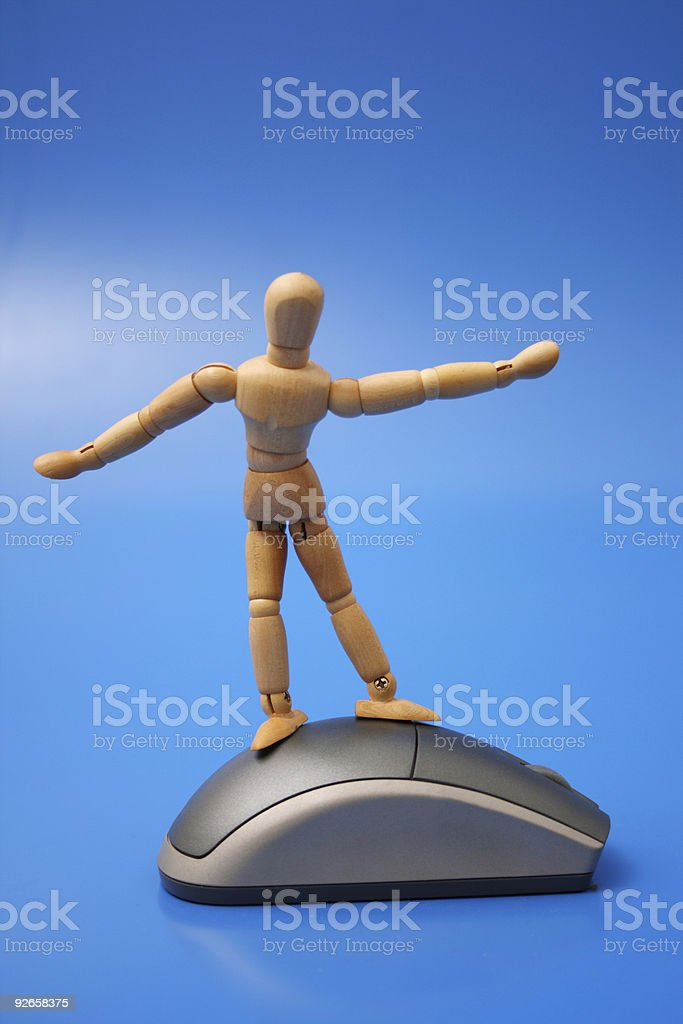 Dummy surfing on the net royalty-free stock photo