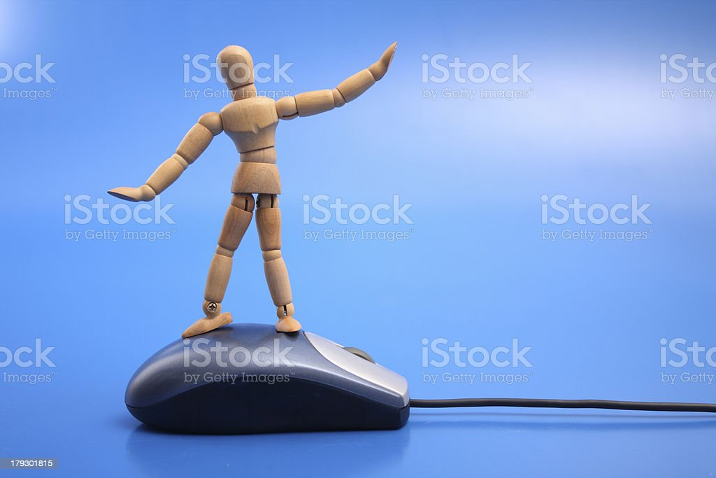Dummy surfing the net royalty-free stock photo