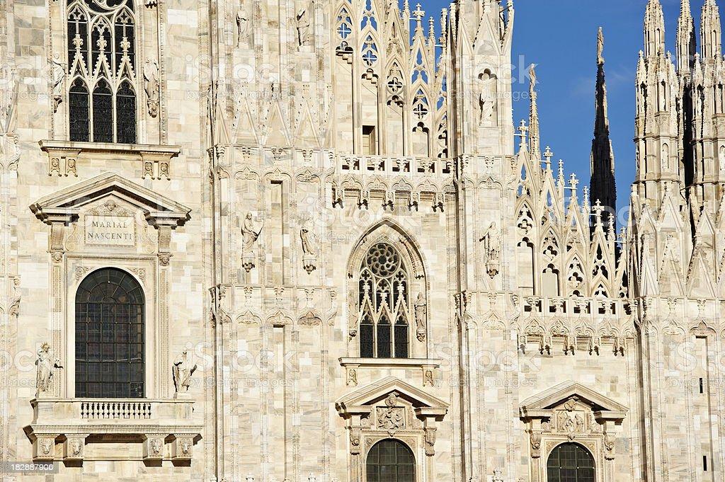 Dumo of Milan royalty-free stock photo