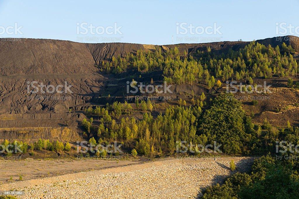 Dump Coal Mine Open Pit - Mina  Carbon  Cielo Abierto stock photo