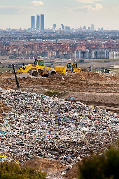 Dump near Madrid stock photo