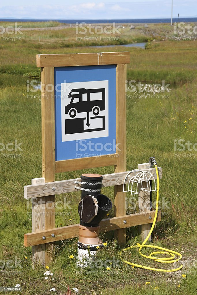 Dump station royalty-free stock photo