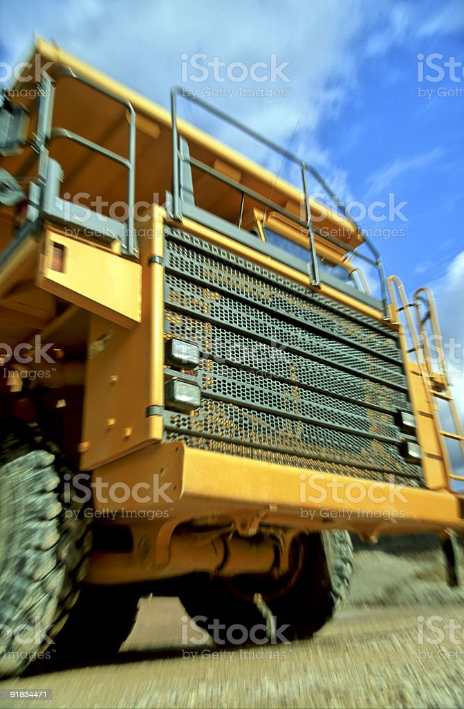 Dump Truck in Motion royalty-free stock photo
