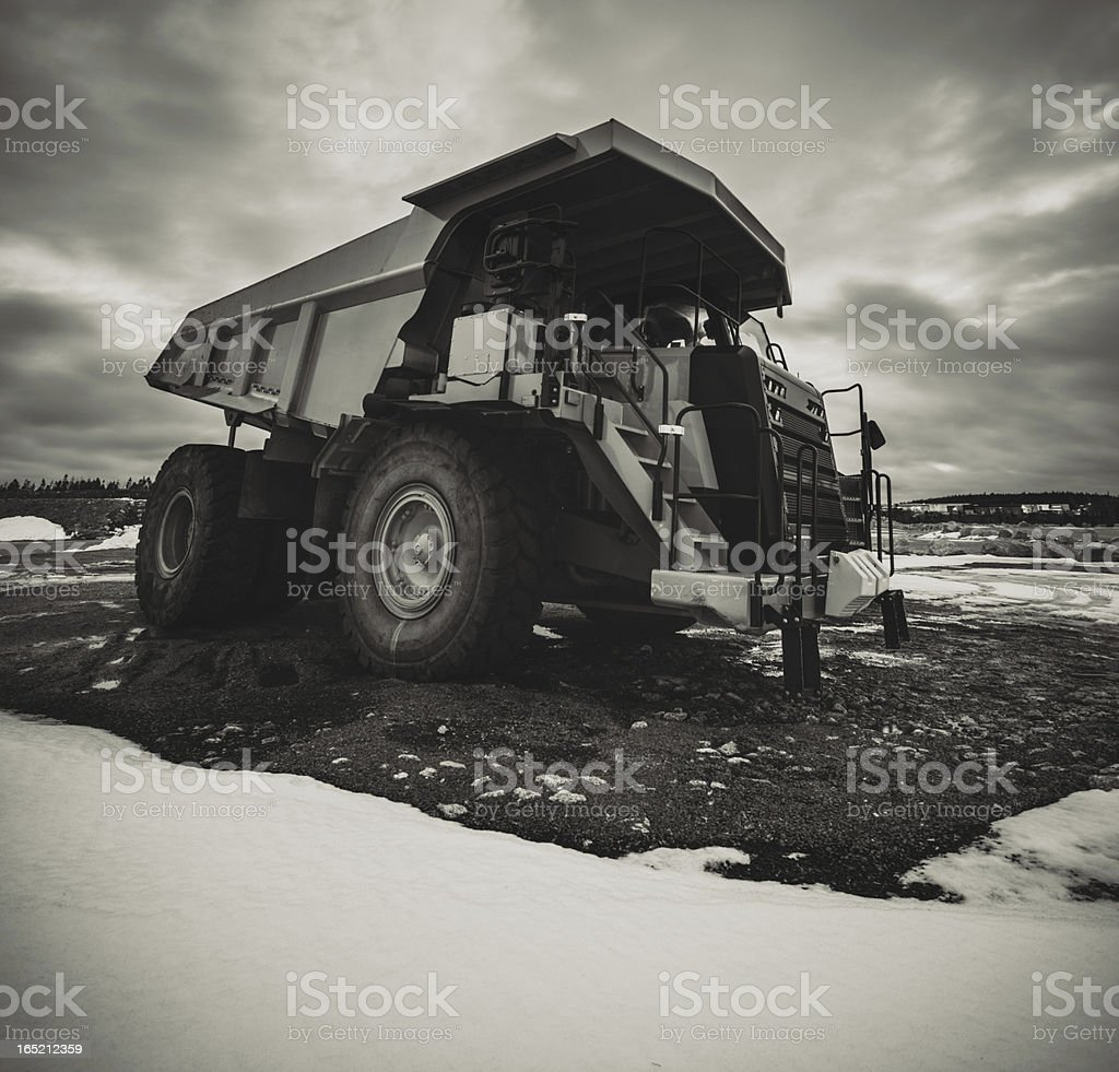 Dump Truck on Site royalty-free stock photo