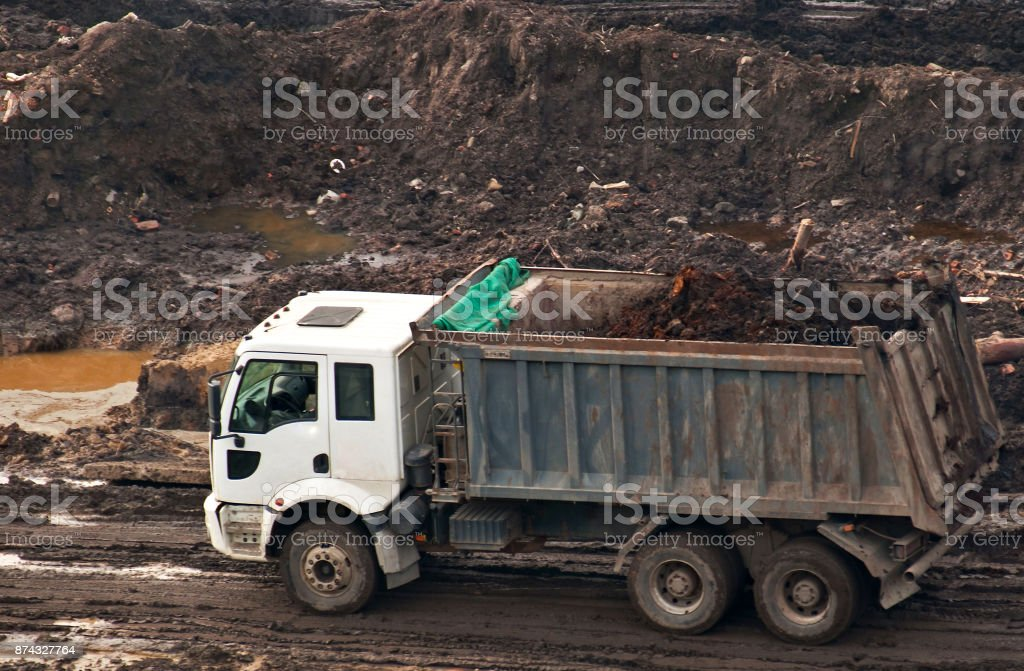Dump truck. stock photo