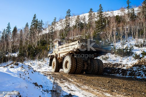 istock Dump truck with ore 871609782