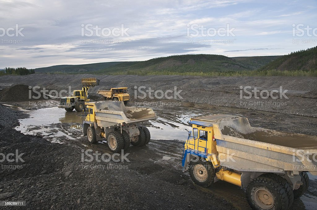 Dump trucks. royalty-free stock photo