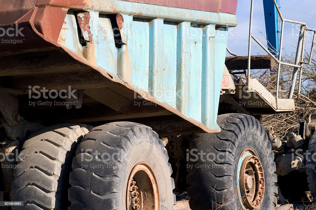 Dumper truck royalty-free stock photo