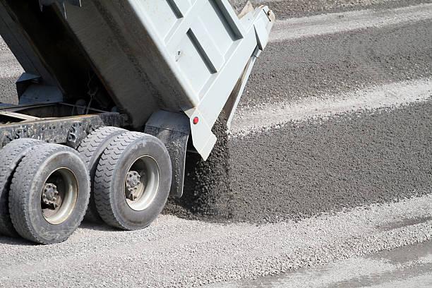 Dumping Gravel stock photo