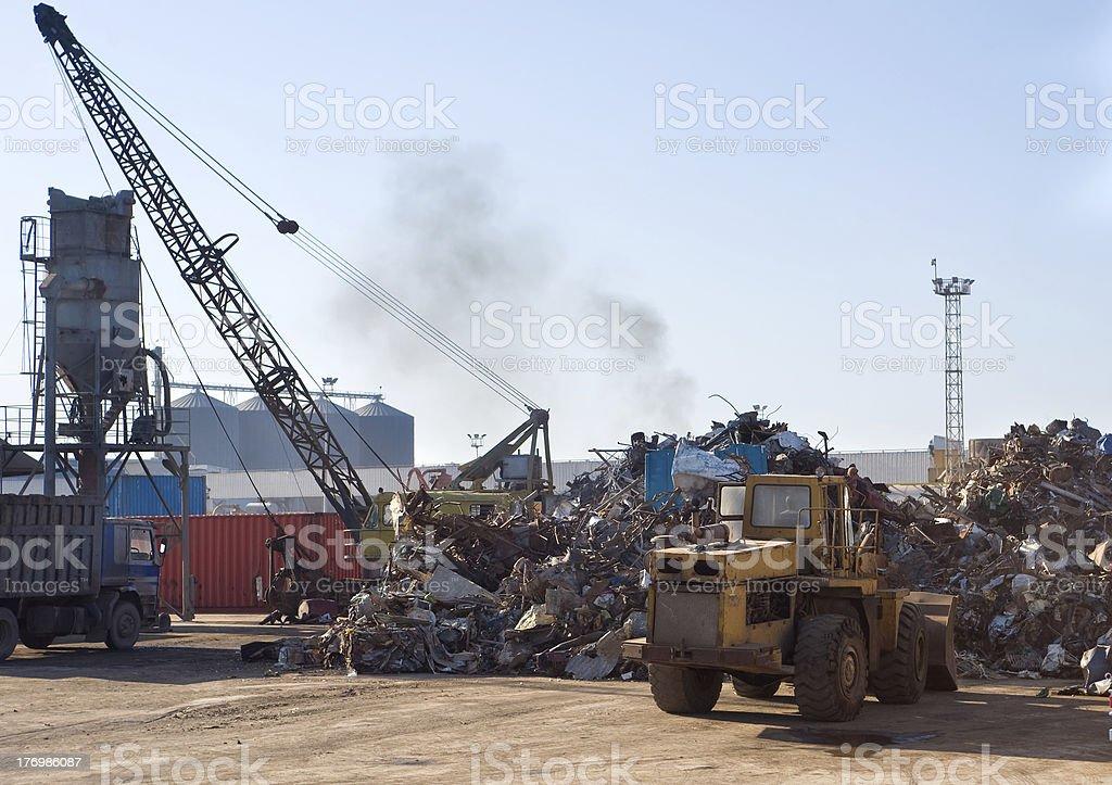 dumping of scrap metal royalty-free stock photo