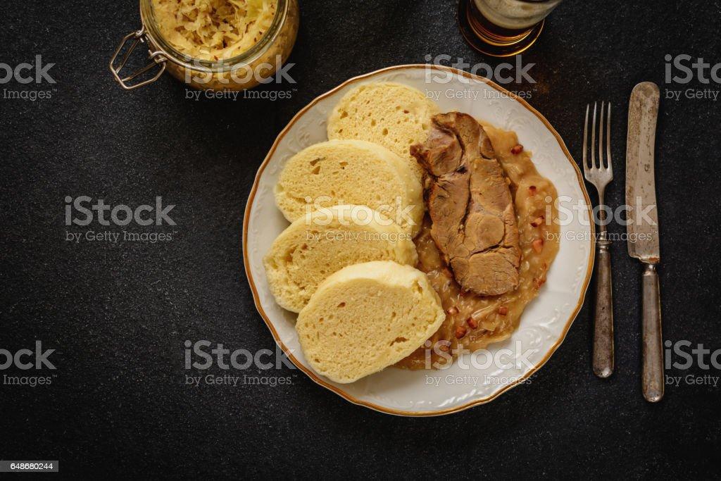 Dumpling cabbage pork stock photo